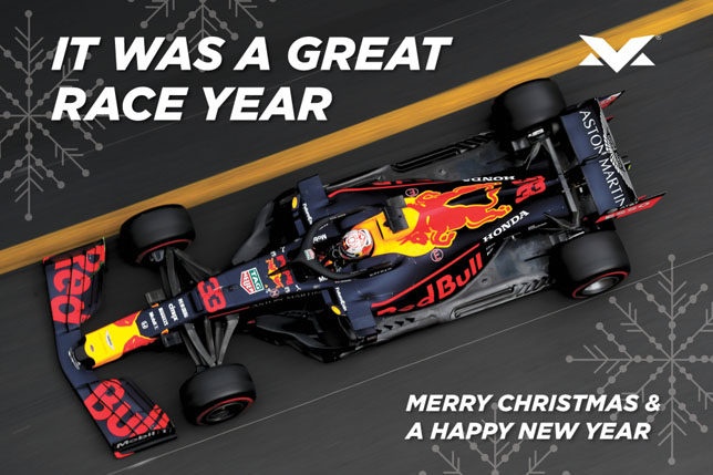 Макс Ферстаппен поздравляет с новогодними праздниками