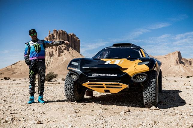 Видео: Кен Блок тестирует машину Extreme E